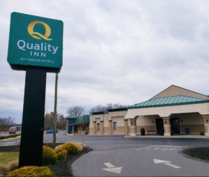 Exterior of the Quality Inn Hotel